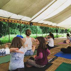 kids yoga at yoga camp The Macs Farm Ditchling