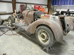 1936 Auto Union Wanderer W25 K. Only 14 of these survive today and we have one being restored at our shop. Wood frame and all. Read more and follow the build progress on our website by clicking the pic. Vintage Cars, Antique Cars, Metal Fab, Car Restoration, Love Car, Custom Cars, Wander, Workshop, Survival