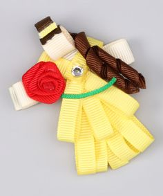Take a look at this Yellow Princess Clip by Couture Hair Bows & Bows for a Princess on #zulily today!