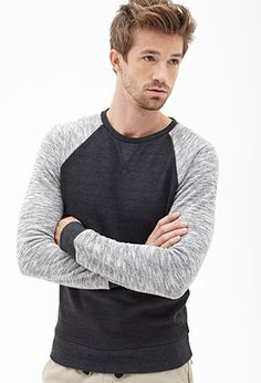 Marled Raglan Sweatshirt from Forever Saved to Tops. Shop more products from Forever 21 on Wanelo. Mode Man, Forever 21 Men, Men's Fashion, Well Dressed Men, My Guy, Perfect Man, Stylish Men, Mens Fitness, Latest Trends