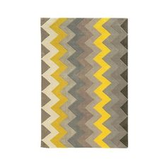 Trio Collection ZigZag Area Rug found on Polyvore featuring polyvore, home, rugs, grey, grey patterned rug, coloured rug, gray chevron area rug, gray chevron rug and grey chevron area rug