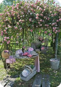 Shabby Chic Rose Backyard Retreat