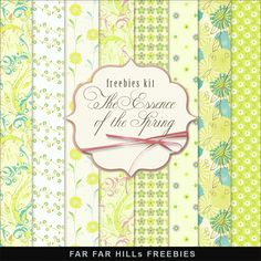 New Freebies Kit - The Essence of the Spring:Far Far Hill - Free database of digital illustrations and papers