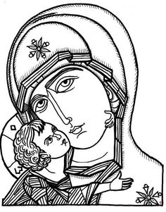 byzantine image for paper bag batik - religious iconology drawing - Yahoo Image… Byzantine Art, Byzantine Icons, Religious Icons, Religious Art, Coloring Books, Coloring Pages, Coloring Sheets, Christian Drawings, Religion