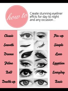 How to: Create stunning eyeliner  effcts for day to night  and any occasion... #eyeliner #makeup