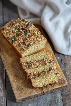 This low-carb bread is super easy to make.