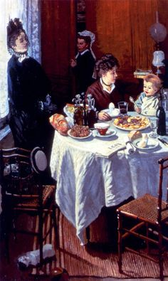 Claude Monet - The Luncheon, 1868 - Städel Museum, Frankfurt Claude Monet, Städel Museum, Artist Monet, Monet Paintings, Impressionist Paintings, William Turner, Pierre Auguste Renoir, Edouard Manet, Fine Art