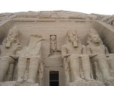 Abu Simbel, Egypt - an Egyptian temple moved from the floods from the building of Aswan Dam.  Close to the Sudan border and a trek to get to, worth it nonetheless!