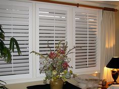 all Danmer window shutters are custom made to fit any type or shape of window. Danmer Shutters offers countless options in frames, colors and finishes - even custom-color matching. Free Design, Custom Shutters, Interior Window Shutters, Interior, House, Wood Windows, Custom Window Coverings, Home Decor, Window Coverings