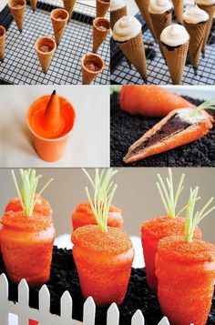 Easter Carrot Cupcakes Recipes, Easter DIY Tutorial: Carrot Shaped Cupcakes, Easter Food ideas, Easter table decorations