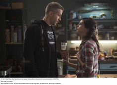 Wade Wilson (Ryan Reyonlds) and new squeeze Vanessa (Morena Baccarin) trade some pointed barbs, in DEADPOOL.