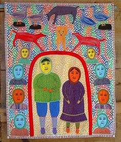 """Multiple Dots"" by Mary Kuutsiq Mariq - Baker Lake These traditional Inuit tapestries are fantastic"