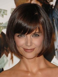 Cute Bob Hair Style for Katie Holmes