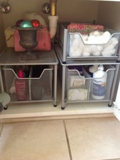 Neat And Organized Under Sink Organization Bathroom Organize Kitchen Storage