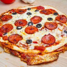 Pizza Quesadillas (keto) - tortillas, mozzarella, pizza sauce, pepperoni and other toppings