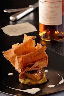 foie gras & armagnac croustade Chateau Bellevue - Hotel restaurant - Gers - France