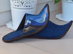 Kailash/Art quilt / Patchwork Handmade slippers/By order