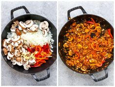 Vegetarian Paella made with simple ingredients in one hour. Vegetarian Paella, Vegetarian Recipes Easy, Indian Food Recipes, Ethnic Recipes, Cheesy Broccoli Casserole, Classic Rice, Kimchi Fried Rice, Paella Recipe