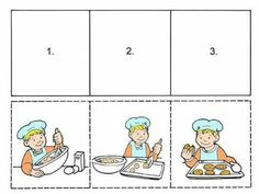 Sequencing Worksheets, Sequencing Cards, Story Sequencing, School Worksheets, Worksheets For Kids, Kindergarten Worksheets, In Kindergarten, Speech Therapy Activities, Preschool Learning Activities