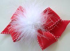 Items similar to Holiday Hair Bow - Christmas Hair Bow - Red and White Hair Bow - Over The Top Hair Bow - Boutique Hair Bow - Santa Hair Bow on Etsy Christmas Hair Bows, Christmas Themes, Christmas Crafts, White Hair Bows, Baby Hair Bows, Holiday Hairstyles, Diy Hairstyles, Custom Bows, Crafts For Kids