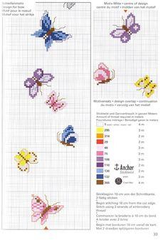 Schema punto croce Farfalle 25