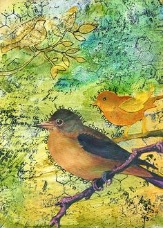 art journals #birds #colors #mixedmedia #art #journal