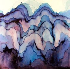 Billedresultat for abstract watercolor painting Les Oeuvres, Art Inspo, Watercolor Art, Watercolor Background, Art Projects, Art Photography, Abstract Art, Illustration Art, Landscape Illustration