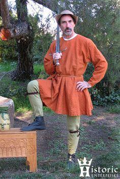 15th Century Fashion, 14th Century Clothing, Renaissance Costume, Medieval Costume, Medieval Tunic, Medieval Clothing, Historical Clothing, Mens Garb, Landsknecht
