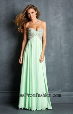 Sparkly Lime Long Beaded Embellished Prom Dress
