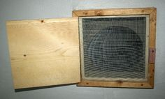 Indoor Screened Vent Box for Earthship Cooling tube---extends back 40 feet into earth berm behind the earthship