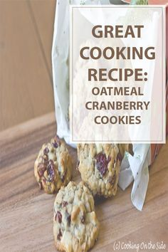Oatmeal cranberry white chocolate chunk cookies is a great recipe for some out of the ordinary cookies. Use this recipe to make a good amount of cookies.