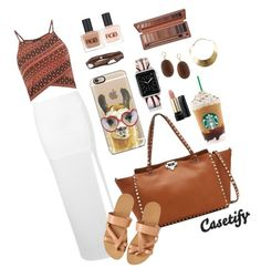 """""""But first, coffee ♨"""" by casetify ❤ liked on Polyvore"""