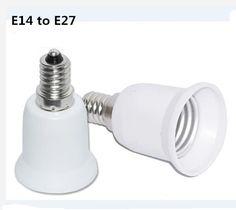 E14 to E27 Fireproof Lamp Holder Converter Socket Base Type Adapter For Led Lamp Bulb