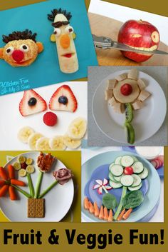 A little creativity can go a long way with kids! Simply cutting up fruits and veggies into fun shapes or arranging them in a fun way can really make a difference. The art of distraction or simply making a game out of a meal or snack can increase your chances of getting your kids to eat healthier foods.