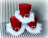 Hats for Women: Holiday Hat, Christmas Hat, Holiday Party Hat, Red. Christmas Projects, Christmas Time, Xmas, Holiday Hats, Holiday Parties, Mad Hatter Top Hat, Christmas Decorations, Christmas Ornaments, Diy And Crafts