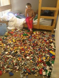 Excellent April Fool's prank for a kid... no escaping from the Lego-Jail! :)