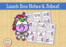 Printable Lunch Box Notes, Lunch Box Cards, Kids Lunchbox Jokes, Printable Lunch Notes, Lunch Notes, Lunch Jokes