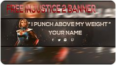 INJUSTICE 2 - FREE SUPERGIRL YT TEMPLATE BANNER!!