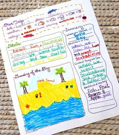 Free Printable Trip Journal Page by B.Nute productions   Here's a great way for your kids to remember more details about your trip... a fr...