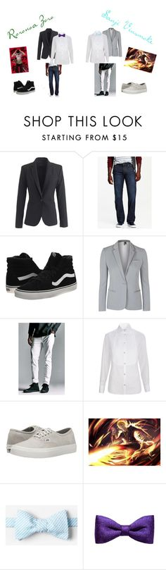 """Roronoa Zoro And Sanji Vinsmoke"" by cana-insanity on Polyvore featuring J.Crew, Old Navy, Vans, Topshop, Bullhead Denim Co., Temperley London, ZuZu Kim, mens, men and men's wear"