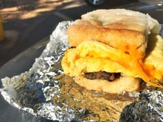 Mama's Boy in Athens, GA: I'm from the South. And I make a pretty darn good biscuit. Well, so do the chefs at Mama's Boy. Try the Egg, Cheddar and Sausage biscuit and a tall cup of coffee (also from Jittery Joe's).
