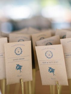 Rustic wedding favor idea with simple seed packets