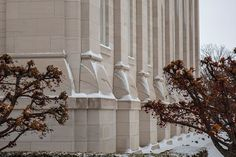 Nauvoo Temple Sunstones in the snow Nauvoo winter Snow