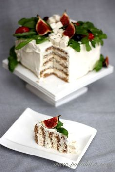 Ensure that your craft service table has a number of snacks. Together with the carbohydrates, many desserts also add more fat and calories also. Party Sandwiches, Sandwich Cake, Sandwich Recipes, Cake Recipes, Pesto, Salty Cake, Food Decoration, Appetisers, Piece Of Cakes