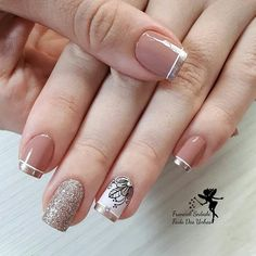 30 Super Nail Art Ideas for Short Nails 2019 Fancy Nails, Diy Nails, Pretty Nails, Gold Nails, Spring Nail Art, Spring Nails, Nailart, Super Nails, Beauty Nails
