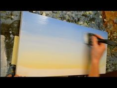 Could be useful! I want that picture and I may have to paint it! How to Paint a Sky - Acrylic Painting Lesson