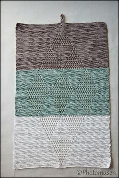 Crochet towel/hæklet harlekinshåndklæde