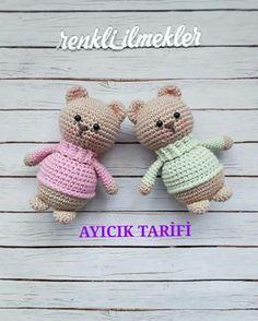 Watch This Video Incredible Crochet a Bear Ideas. Cutest Crochet a Bear Ideas. Easy Crochet Projects, Easy Crochet Patterns, Crochet Designs, Crochet Crafts, Crochet Bear, Cute Crochet, Crochet Dolls, Amigurumi Doll, Free Pattern