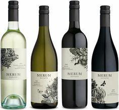 Black and white wine design