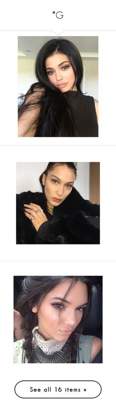 """""""*G"""" by asia125125 ❤ liked on Polyvore featuring beauty products, bella hadid, kendall jenner, kendall, people, hair, pictures, jewelry, earrings and gigi hadid"""